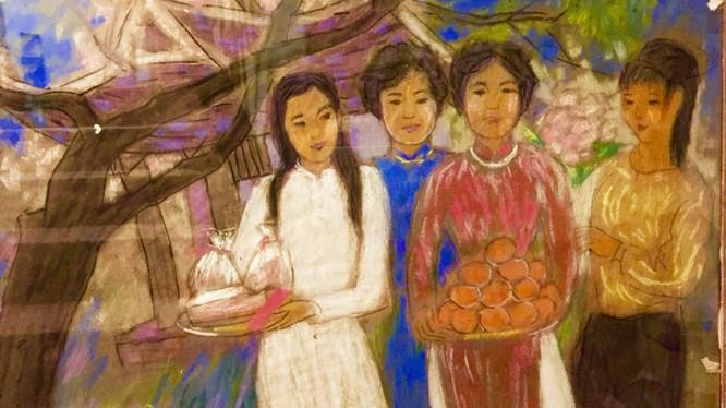 Tranh của cố họa sĩ Nguyễn Bích