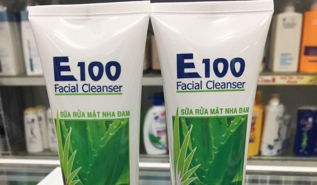 Sữa rửa mặt nha dam E100. Ảnh: Internet