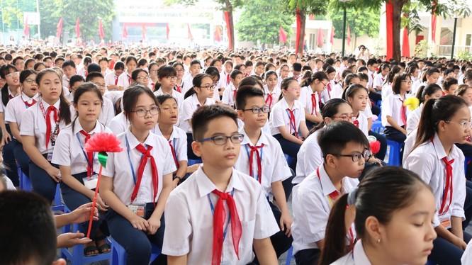 Học sinh trong ngày khai giảng năm học mới 2019-2020. Ảnh: Minh Thúy
