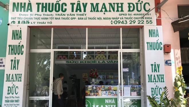 Nhà thuốc Mạnh Đức (đường Lý Thái Tổ, TP. Buôn Ma Thuột, tỉnh Đắk Lắk). Ảnh: T.N