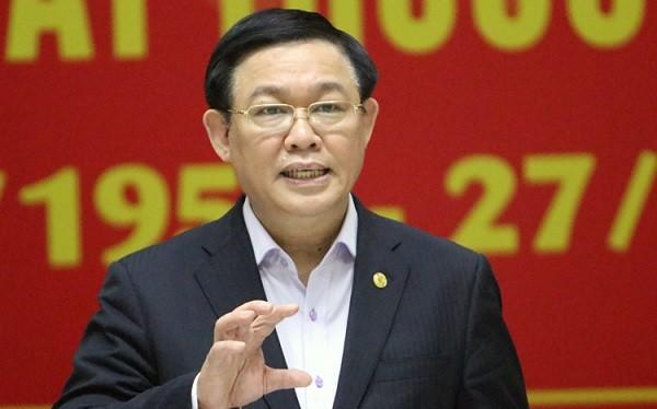 Ông Vương Đình Huệ - Bí thư Thành ủy Hà Nội. Ảnh: Võ Hải/VNE