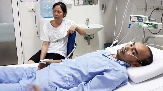 Bệnh nhân Nguyễn Quang Thành bị suy tim giai đoạn cuối. (Ảnh: Gia đình bệnh nhân cung cấp)
