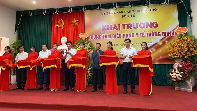 Sở Y tế tỉnh Phú Thọ khai trương Trung tâm điều hành Y tế thông minh (Ảnh: Thanh Hằng)