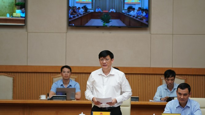 Quyền Bộ trưởng Y tế Nguyễn Thanh Long (Ảnh: VGP Quang Hiếu)