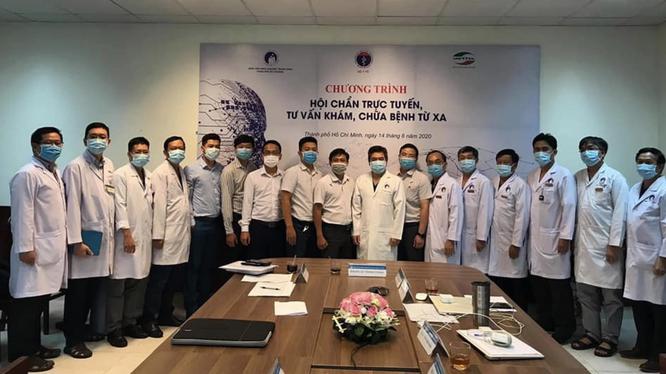 Bệnh viện Răng Hàm Mặt Trung ương TP. Hồ Chí Minh tổ chức buổi hội chẩn trực tuyến khám, chữa bệnh từ xa vào chiều nay (14/8) (Ảnh: Khánh Phương)