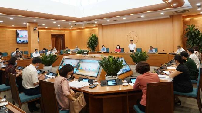 Ban Chỉ đạo phòng, chống dịch COVID-19 TP. Hà Nội họp vào chiều nay (Ảnh: Phú Khánh)