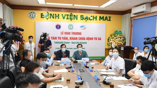 Bệnh viện Bạch Mai khai trương Trung tâm tư vấn khám, chữa bệnh từ xa (Ảnh: Thùy Dương)