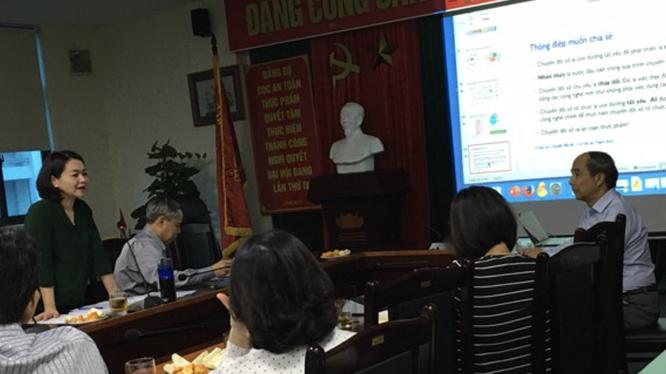 Hội thảo chuyển đổi số về lĩnh vực an toàn thực phẩm do Cục An toàn thực phẩm tổ chức (Ảnh: VFA)