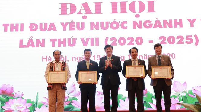 Các cá nhân có thành tích xuất sắc được tuyên dương tại Đại hội (Ảnh: Tuấn Dũng)