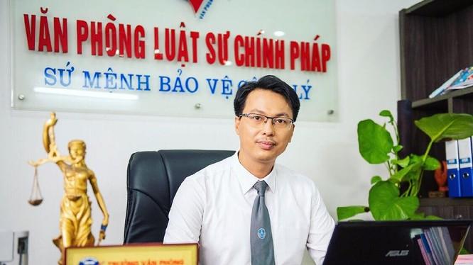 Luật sư Đặng Văn Cường – Trưởng Văn phòng Luật sư Chính Pháp (Ảnh: LS Đặng Văn Cường)