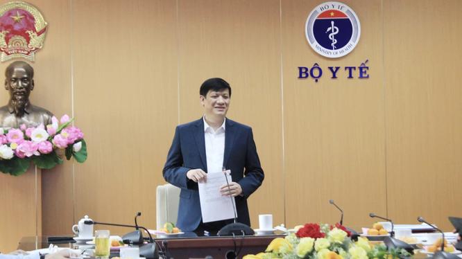 Bộ trưởng Bộ Y tế Nguyễn Thanh Long (Ảnh: Vũ Mạnh Cường)