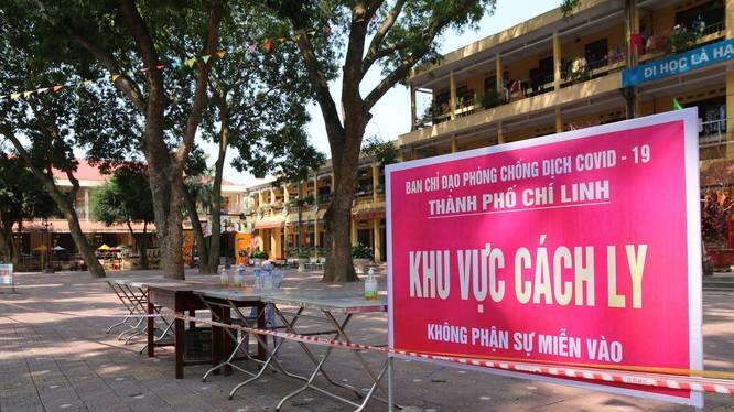 Khu vực cách ly COVID-19 ở TP. Chí Linh, Hải Dương (Ảnh - BYT)