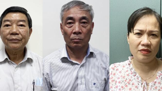 Giám đốc, nguyên Phó giám đốc, kế toán trưởng Bệnh viện Bạch Mai bị bắt vì nâng khống giá thiết bị y tế, chiếm đoạt tiền của người bệnh (Ảnh: Bộ Công an)