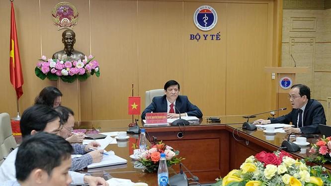 Bộ trưởng Bộ Y tế Nguyễn Thanh Long làm việc với Bộ trưởng Bộ Y tế Campuchia (Ảnh - BYT)