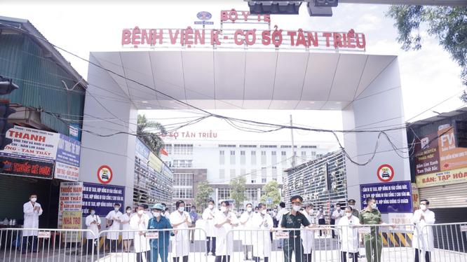 Bệnh viện K gỡ phong toả (Ảnh - BVCC)