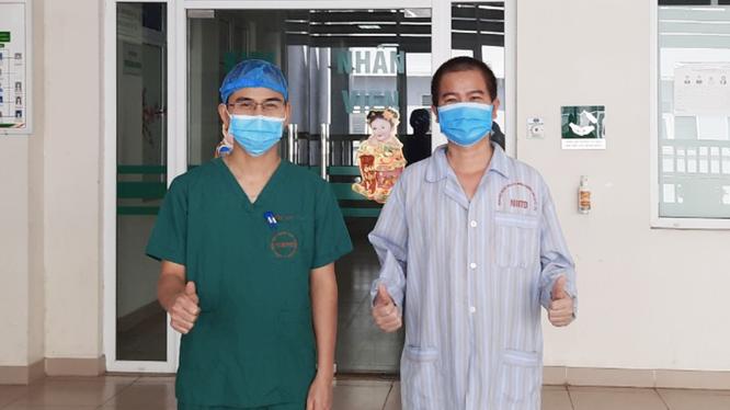 Bệnh nhân 3207 hồi phục hoàn toàn trong ngày ra viện (Ảnh - Đặng Thanh) z