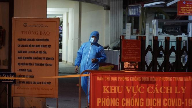 Khu vực cách ly ở Bệnh viện Phổi Hà Nội (Ảnh - Minh Nhân)
