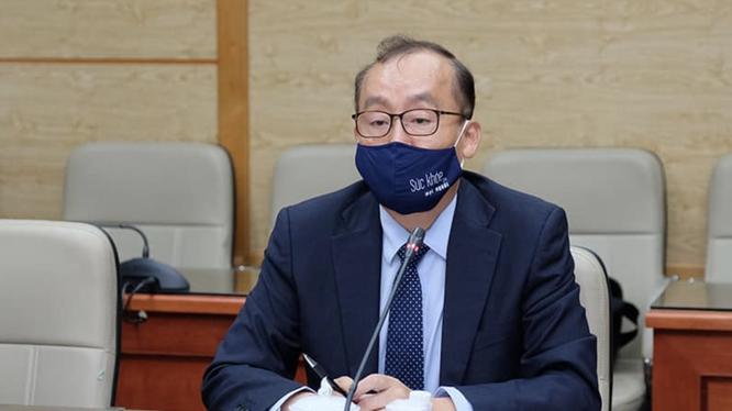 TS. Kidong Park – Trưởng Đại diện Tổ chức Y tế Thế giới (WHO) tại Việt Nam (Ảnh - Trần Minh)
