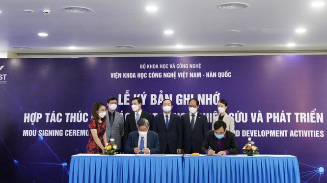 Lễ ký kết giữa VKIST và CVI Pharma (Ảnh - CVI Pharma)