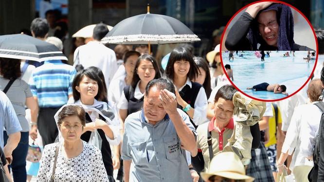 Nhật Bản gồng mình trong đợt nắng nóng cực đoan(Ảnh: Japan Times)