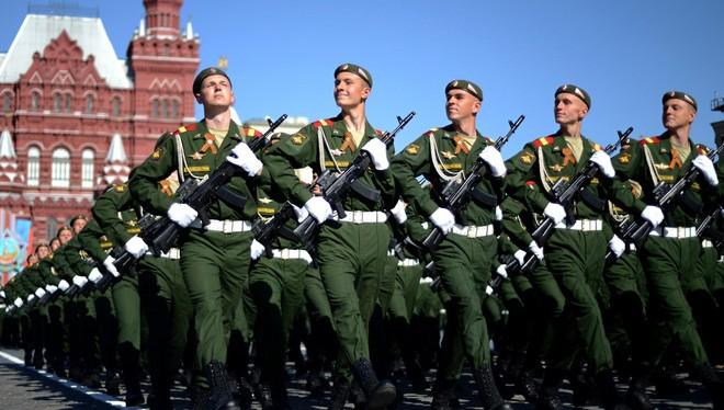 Binh sĩ Nga trong lễ duyệt binh.