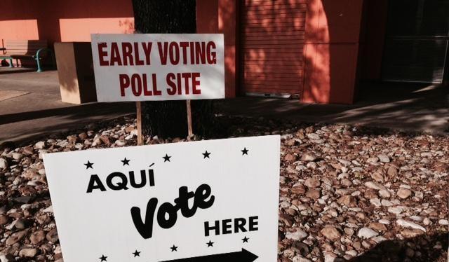 Một điểm bầu cử tại Texas.