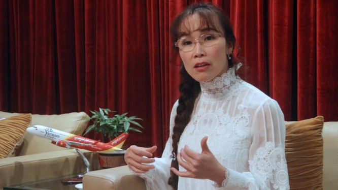 Bà Nguyễn Thị Phương Thảo, CEO của Vietjet trả lời phỏng vấn Nikkei.