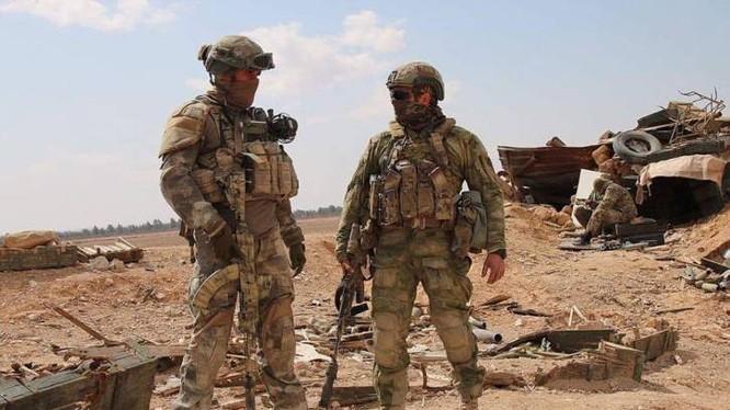 Lính Mỹ trên chiến trường Syria.