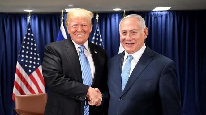Tổng thống Mỹ Donald Trump và thủ tướng Israel Benjamin Netanyahu.