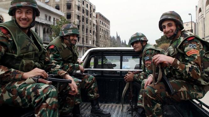 Binh sĩ quân chính phủ Syria.
