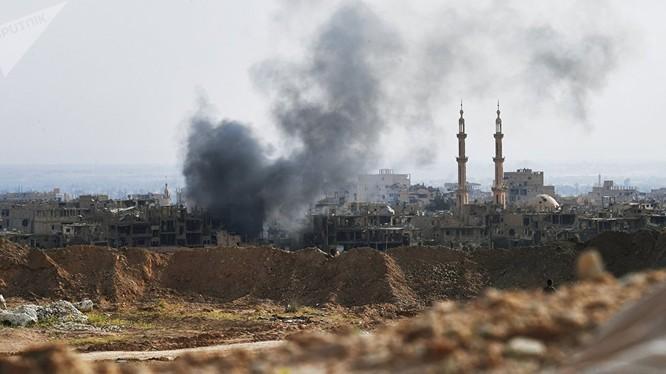 Liên minh quân sự do Mỹ chỉ huy đã không kích, phá hủy hoàn toàn một bệnh viện chính tại Hajin.