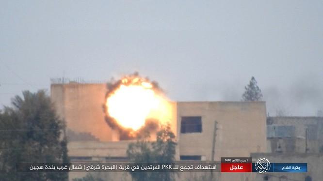 IS tấn công SDF bằng tên lửa chống tăng dẫn đường.