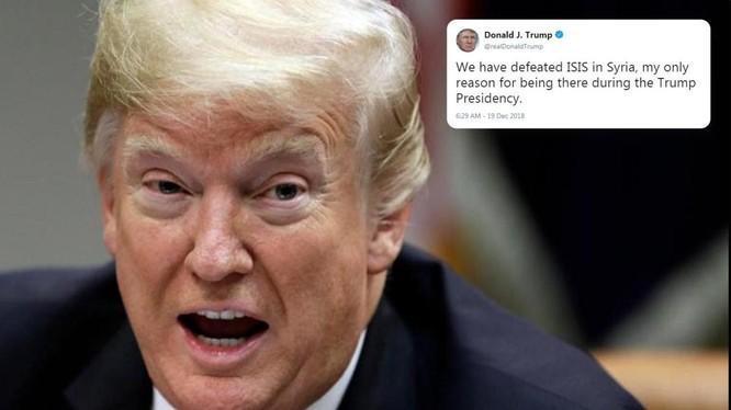 Ông Trump tuyên bố sẽ rút quân khỏi Syria trong vòng 60 đến 100 ngày.