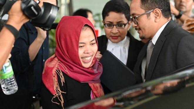 Bà Siti Aisyah, nghi phạm vừa được trả tự do. Ảnh: AFP.