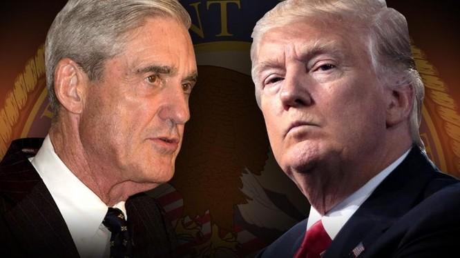 Công tố viên đặc biệt Robert Mueller và tổng thống Mỹ Donald Trump.