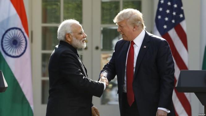 Tổng thống Hoa Kỳ Donald Trump và Thủ tướng Ấn Độ Narendra Modi.