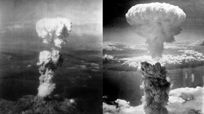 Hình ảnh vụ nổ bom nguyên tử ở hai thành phố Hiroshima và Nagasaki.