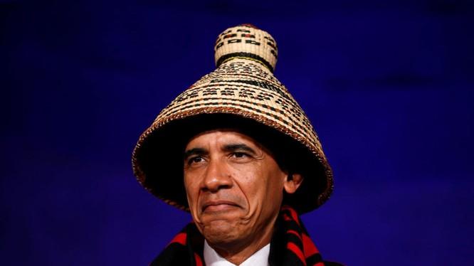 Tổng thống Mỹ Barack Obama tại Hội nghị các bộ lạc dân tộc trong Nhà Trắng.