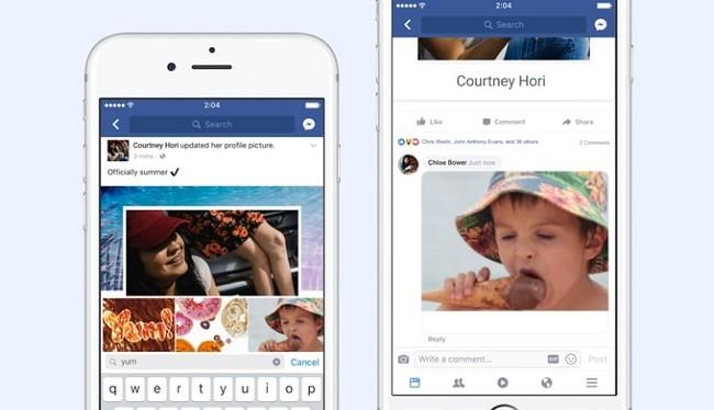 Bình luận trên Facebook bằng ảnh động GIF