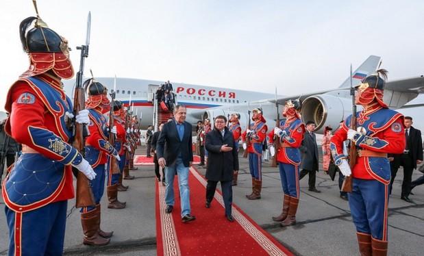 Ngoại trưởng Nga Lavrov trong chuyến thăm Mông Cổ hôm 14/4/2016 vừa qua.