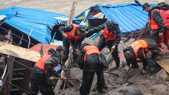 Lở đất tại Trung Quốc, ít nhất 14 người chết