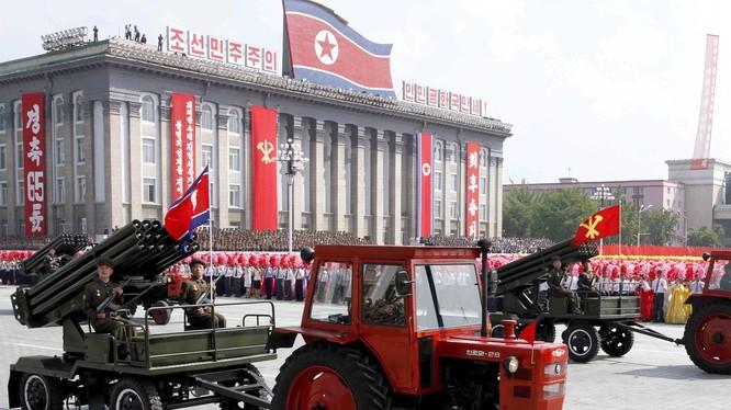 Duyệt binh ở thủ đô Bình Nhưỡng (ảnh minh họa).