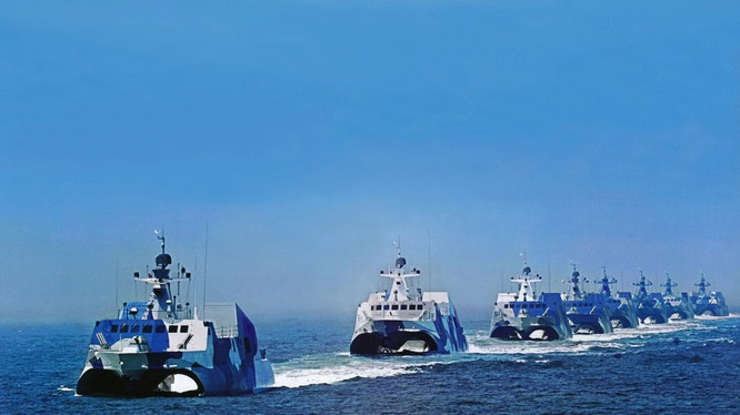 Tàu chiến cao tốc của PLA (ảnh minh họa).