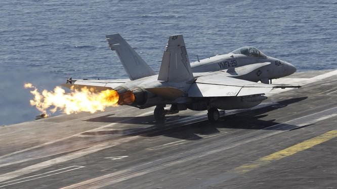 Máy bay trên tàu sân bay của Hải quân Mỹ (ảnh minh họa).
