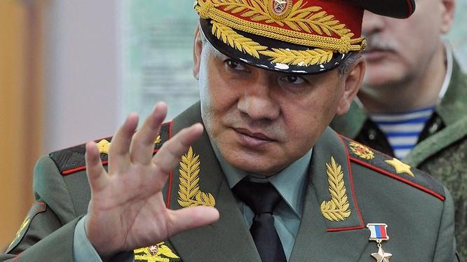 Bộ trưởng quốc phòng Nga Sergei Shoigu.