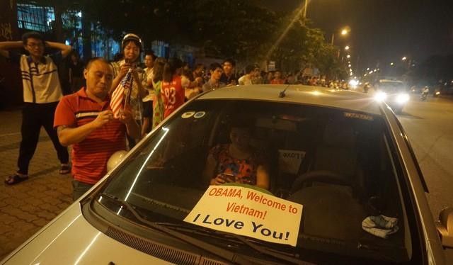 Tình cảm của người dân Việt Nam dành cho ông Obama.