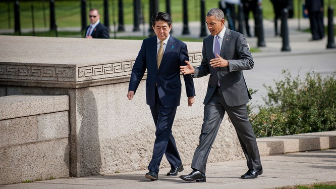 Lãnh đạo Mỹ - Nhật Bản.