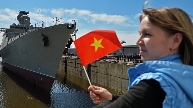 """Nga đã hạ thủy tàu khinh hạm """"Gepard 3.9"""" thứ tư cho Hải quân Việt Nam (ảnh: Sputnik)"""