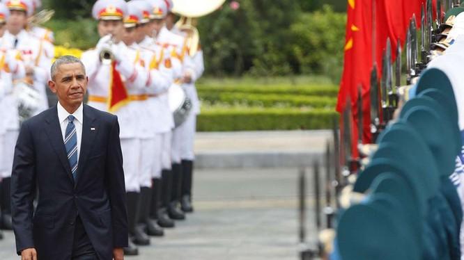 Tổng thống Hoa Kỳ Barack Obama trong chuyến thăm Việt Nam.