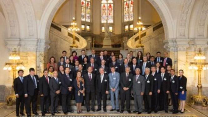 Tòa trọng tài thường trực Liên hợp quốc ở The Hague, Hà Lan sắp đưa ra phán quyết về vụ Philippines kiện Trung Quốc về vấn đề Biển Đông. Nguồn ảnh: BBC Anh.